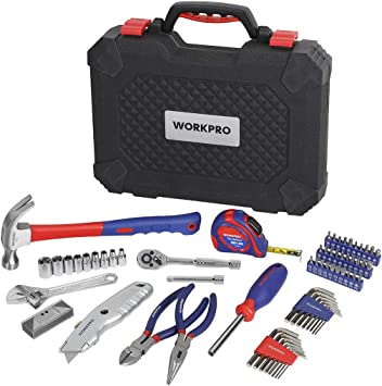 WORKPRO W009085A 74-Piece Tool Set for DIY Home Maintenance