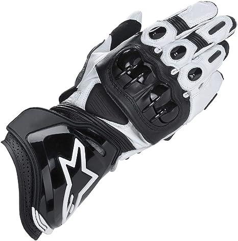 ZXT Motorcycle Long Gloves Racing Driving Motorbike Guanti Originali in Pelle Bovina Colore : Nero, Dimensioni : XL