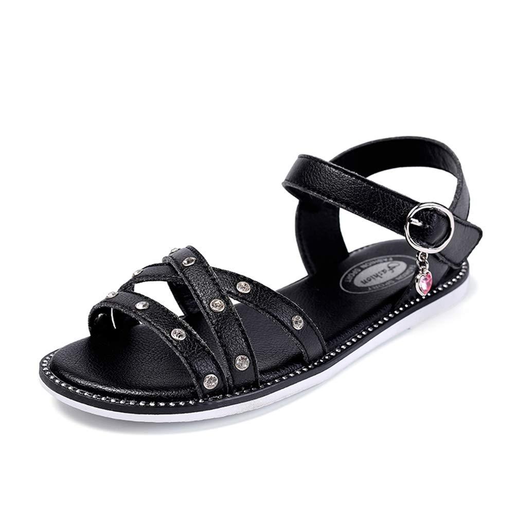 Baviue Stylish Anti-Skid Leather Sandles Jeweled Sandals for Girls
