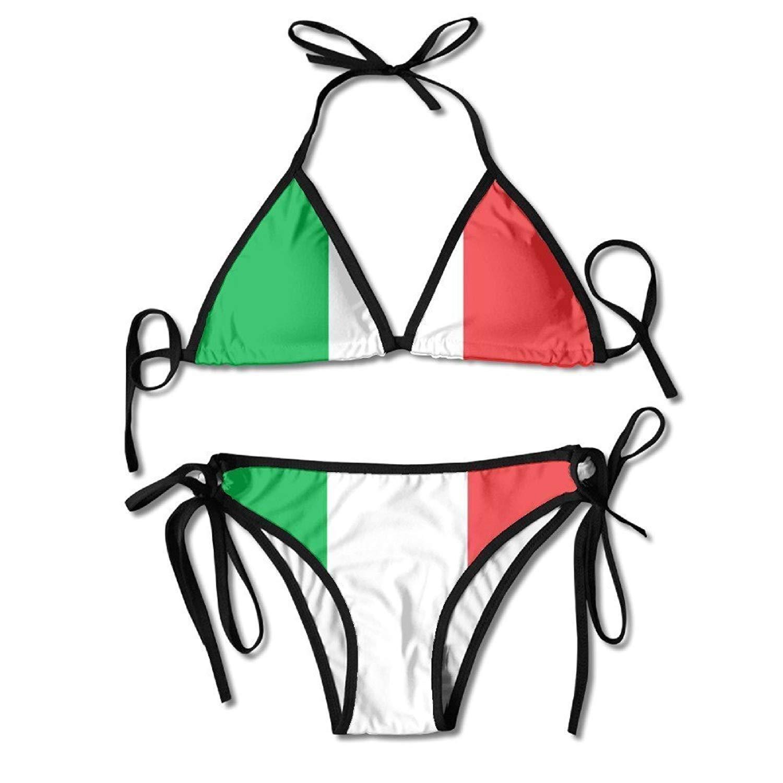 Bikini Swimsuit for Women Two Pieces Alpaca Llama Animal High Cut Padded Bikini