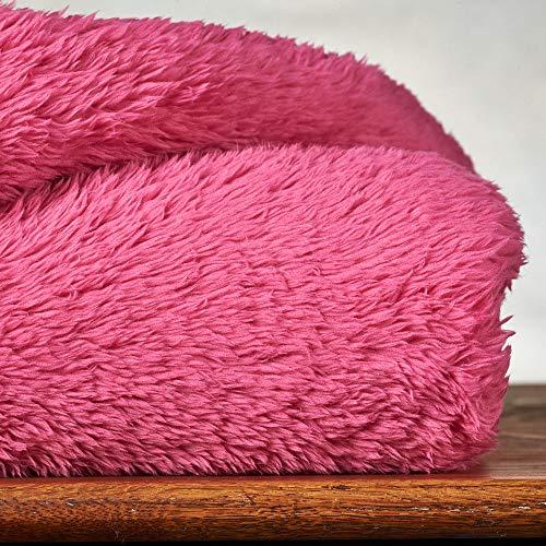 Berkshire Blanket Extra-Fluffy Blanket-Fuzzy, Warm, Ultra-Soft Plush Throw, 55
