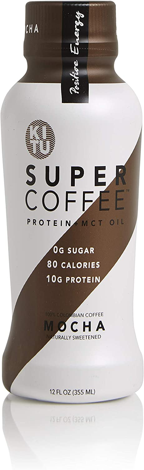 Kitu Super Coffee Mocha Sugar-Free Formula, 10g Protein, Keto Approved, Lactose Free, Soy Free, Gluten Free, Pack of 12