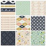 Southwestern Quilt Bundle | Native American Fabrics | Tribal Fat Quarters | Desert Theme Fabrics | Leah Duncan and April Rhodes for Art Gallery Fabrics (Fat quarters)