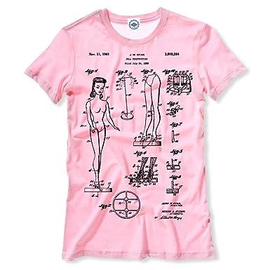 9386211715681 Amazon.com: Hank Player U.S.A. Barbie Doll Patent Women's T-Shirt: Clothing