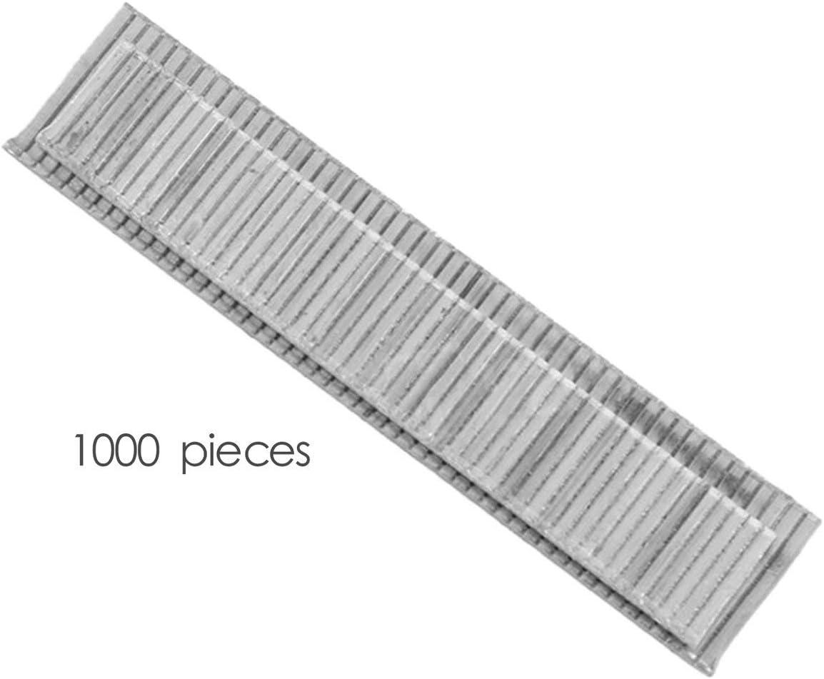 1000Pcs F10 Grapas 10mm de longitud U/ñas a prueba de herrumbre para enmarcar Tacker U/ñas el/éctricas Accesorios de pistola de grapas Herramienta de carpintero plata