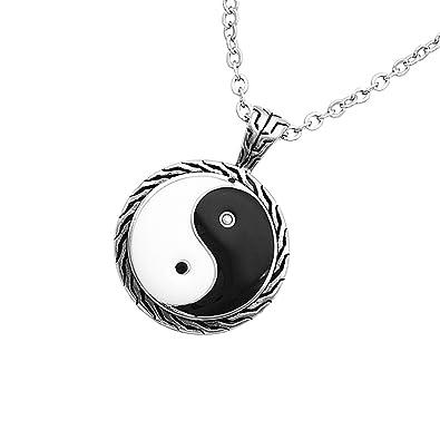 Buy segolike stainless steel retro round yin yang tai chi pendant segolike stainless steel retro round yin yang tai chi pendant chain necklace silver aloadofball Choice Image