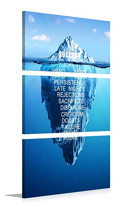 Amazon Com Success Inspiration Themed Wall Art Motivation Iceberg