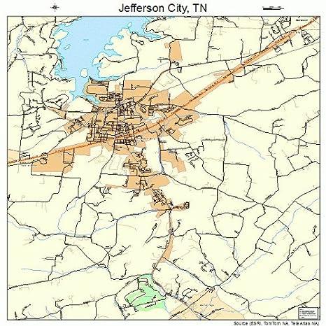 Amazon.com: Large Street & Road Map of Jefferson City, Tennessee TN ...