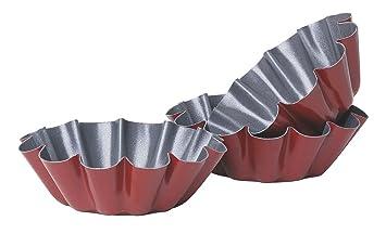 Mini molde para tartaletas - diámetro 10 cm - se vende por 6: Amazon.es: Hogar
