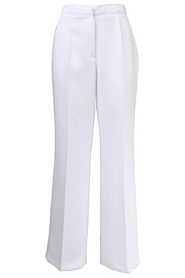 59702997fa3244 Busy Clothing Women Smart Trousers White: Amazon.co.uk: Clothing