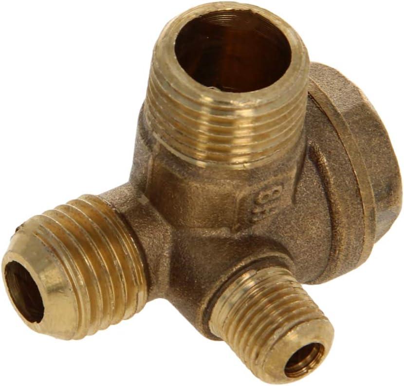 V/álvula de retenci/ón para compresor de aire Othmro lat/ón 1 unidad rosca macho de 16 mm x 14 mm accesorio neum/ático de 2 v/ías
