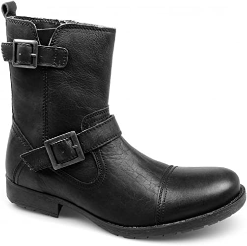 Buckle Boots Casual Side Zip Shoes