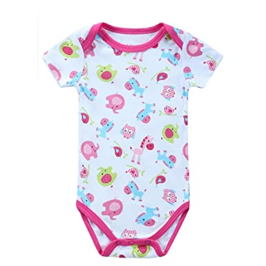 a2d6ae4c3 Amazon.com  OUBAO Baby Romper Summer Newborn Toddler Infant Boy Girl ...