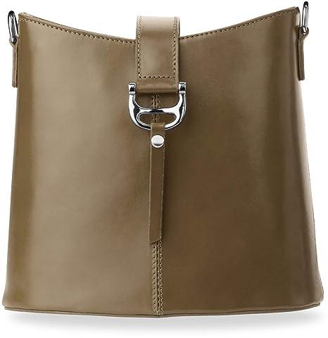 a4e6aa909a443 Damentasche Schultertasche Natur – Leder Umhängetasche viele Farben (beige)
