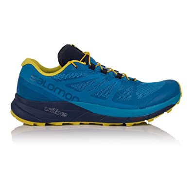 c23f8f7aea8c Salomon Sense Ride Running Shoe - Men s Snorkel Blue Indigo Bunting Sulphur  Spring 14  Buy Online at Low Prices in India - Amazon.in