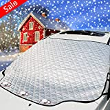 3rd Generation Windshield Snow Cover,Magnetic Edge Car Snow Cover,No More Scraping Car,for Winter Snow Ice and Frost,Heat...