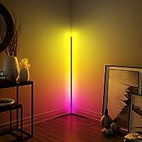 New Minimalist LED Corner Floor Lamp ,Colorful Bedroom Living Room Floor Lamp Bar Atmosphere Lamp-Colour Changing (Black)
