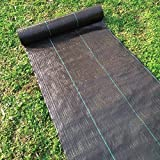 Agfabric All Purpose Folded Landscape Garden mat 6x25ft Heavy PP Woven Weed Barrier for Raised Bed,Soil Erosion Control and UV Resistant
