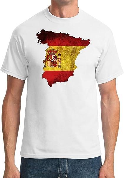 Camiseta de hombre con el mapa España con la bandera de ...