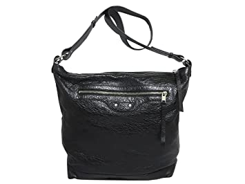 e029397b2dd7 Image Unavailable. Image not available for. Color  BALENCIAGA Classic Black  Lambskin Leather Messenger Bag 340687
