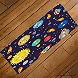 VROSELV Custom Towel Soft and Comfortable Beach Towel-seamless pattern cute solar system vector illustration eps Design Hand Towel Bath Towels For Home Outdoor Travel Use 27.6''x11.8''