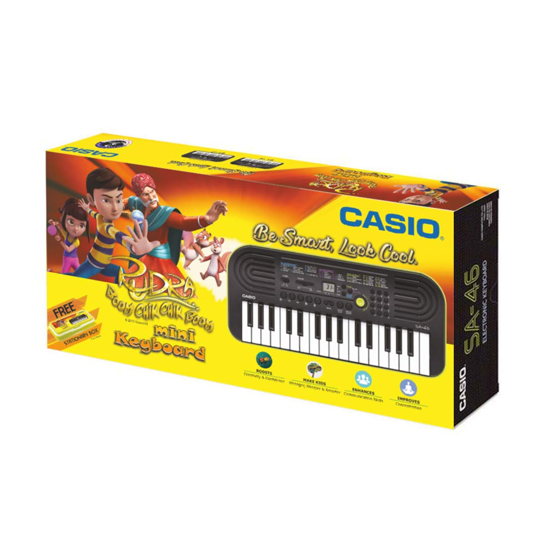 Casio SA46 Mini Portable Keyboard with Free Rudra Stationery Box product image