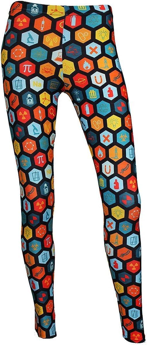 Science Geometric Geeky Microscope Space Print Leggings