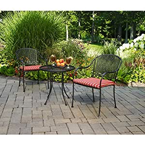 NEW Wrought Iron 3-Piece Outdoor Bistro Set, Seats 2