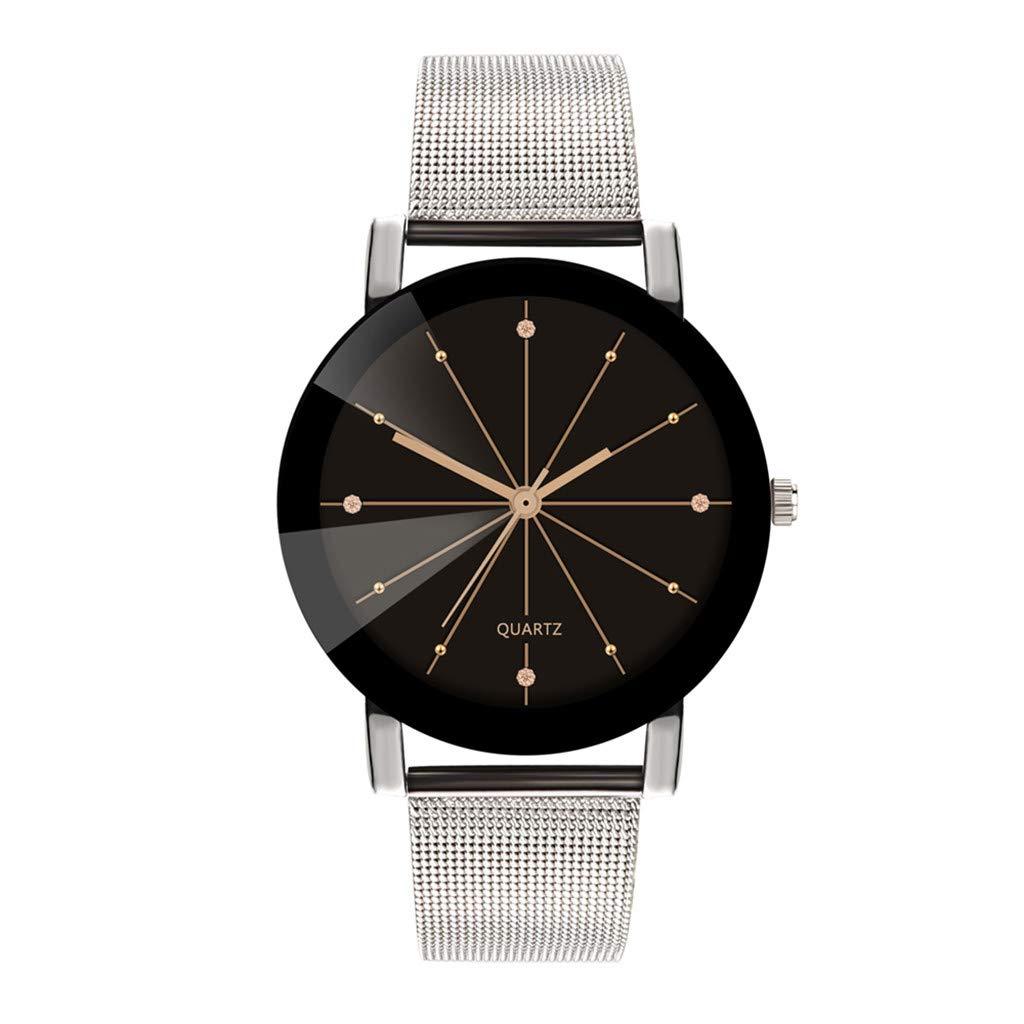 Mens Watches,Fxbar Classic Men Business Wristwatch Nylon Strap Quartz Bracelet Watches Analog Wrist Watch(A)