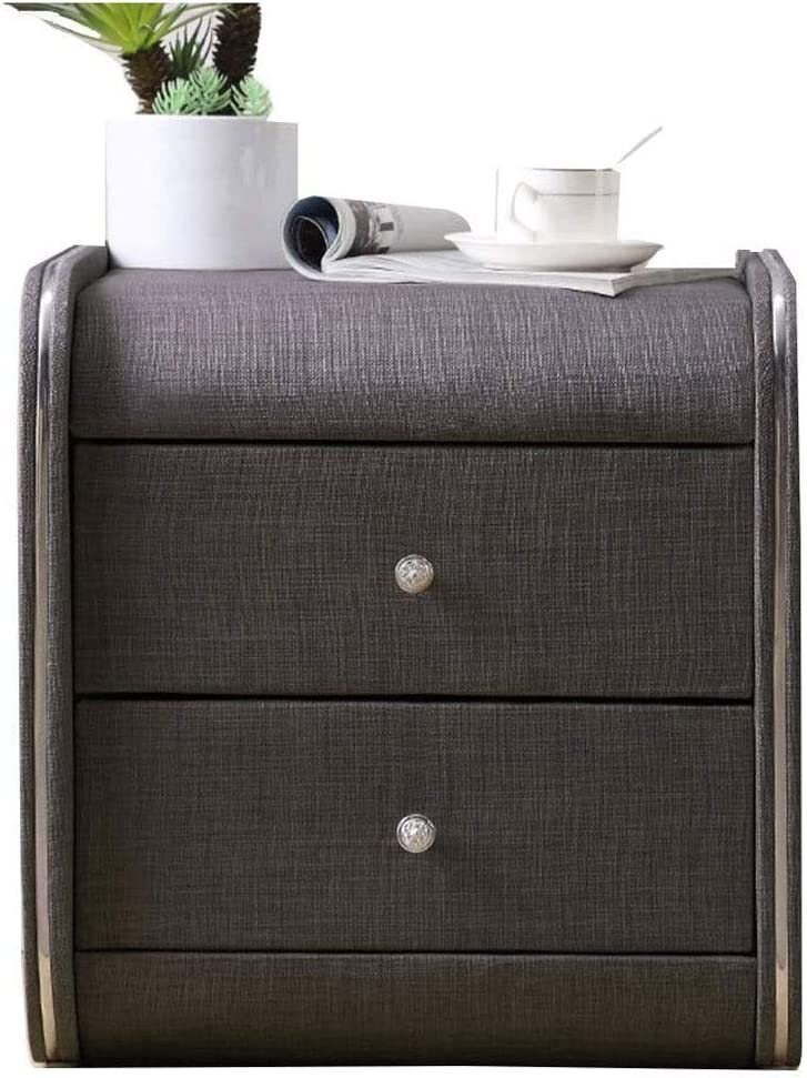 Furniture Special Design - Nightstand,Bedside Table Fabric-Nightstand Drawer Locker Decorative Display Cabinet Table (Color : Black)