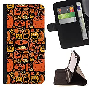 /Skull Market/ - PUMPKIN BLACK HOLIDAY HALLOWEEN ORANGE For Apple Iphone 6 - Caja de la carpeta del tir???¡¯???€????€????????&c
