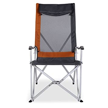 Guidoo Practical Aluminum Alloy High Chairs and Barbecue Summer Camping  Chair Thick 600D Oxford Cloth Chair 5730e9c62c