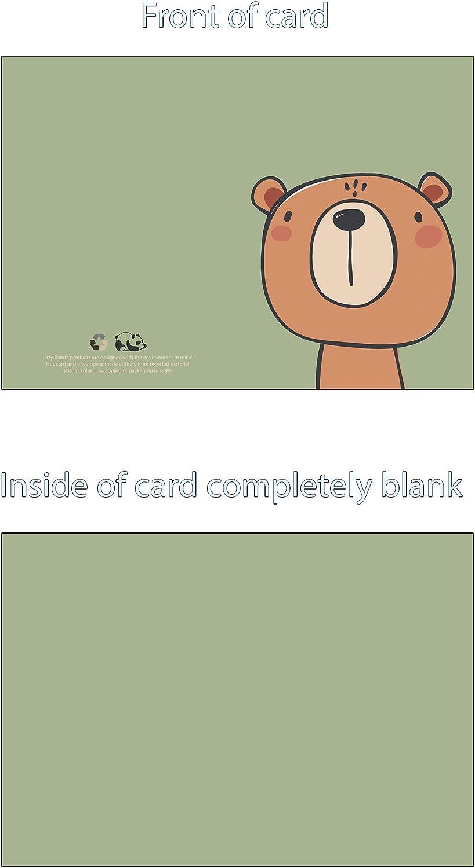 the lazy panda card company Lot de 49 cartes de v/œux vierges /écologiques en carton recycl/é avec enveloppes recycl/ées /écologiques