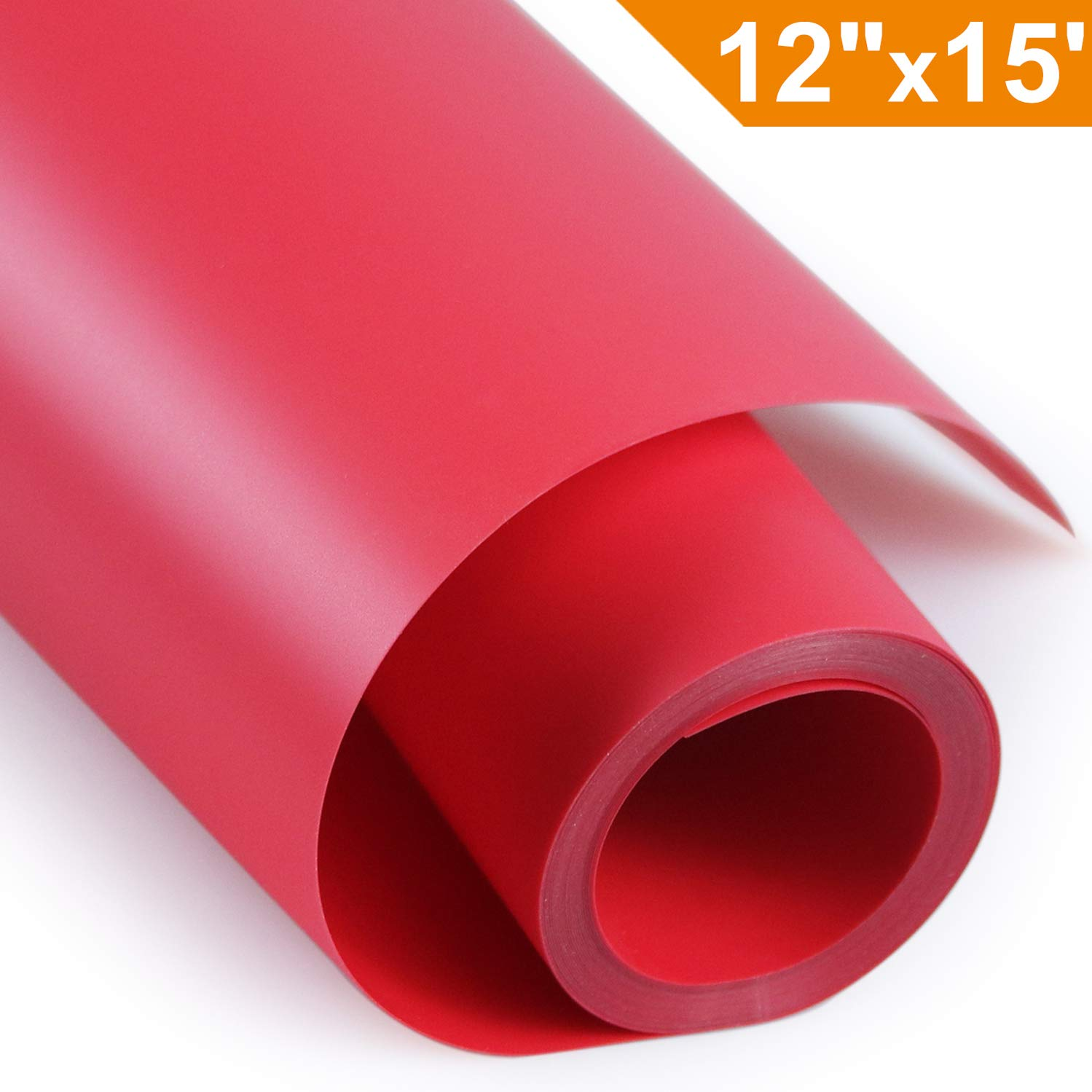 Heat Transfer Vinyl HTV for T-Shirts 12 Inches by 15 Feet Rolls(Black)