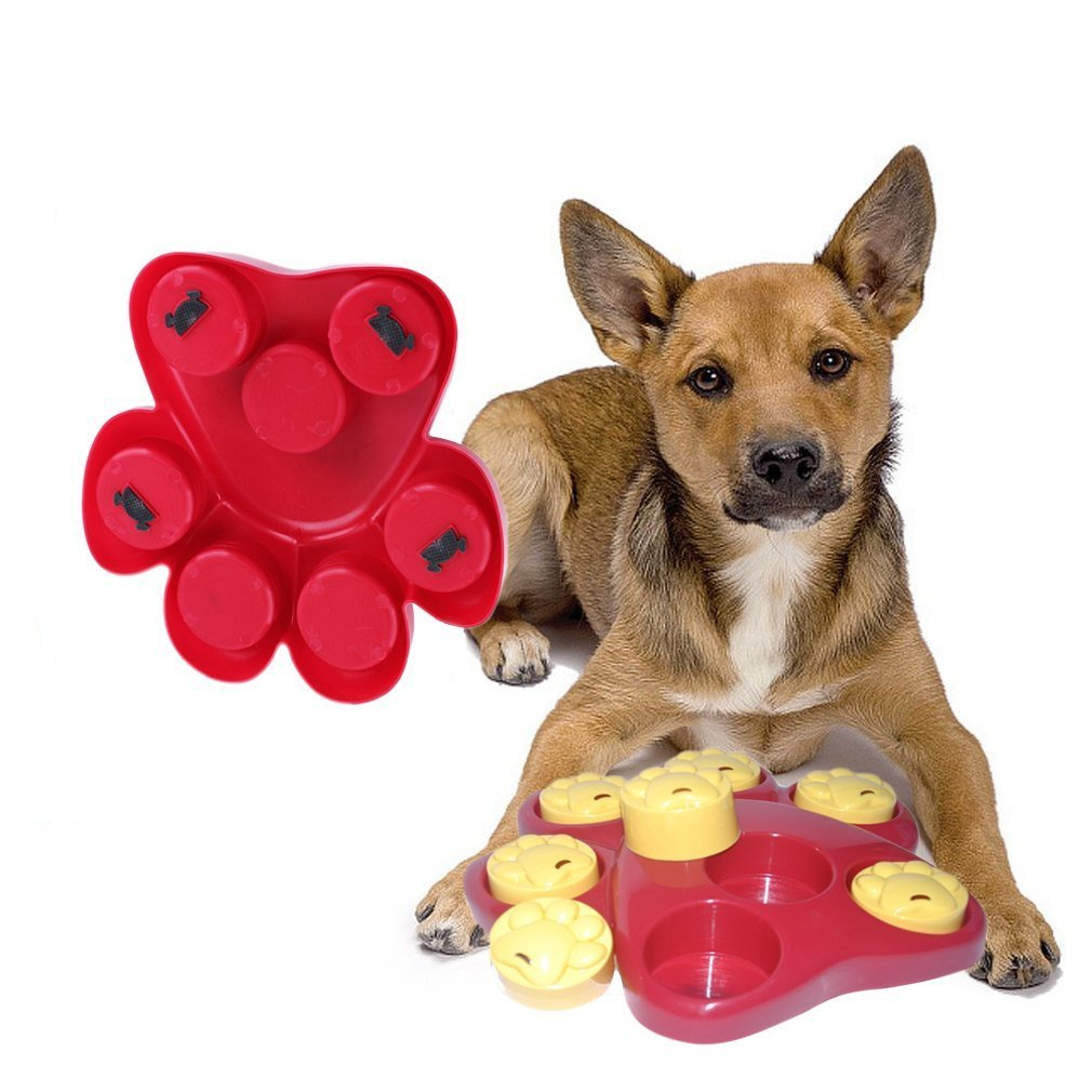 Dog Food Treat Toy, TZAMCW Dispensing Boredom Interactive Game Puzzle Training Finder Toys, iMichelle Paw Hide Treats Toy Slow Feeder Bowl Helps Prevent Bloating Upset Diarrhea,Entertaining and Brain-Engaging