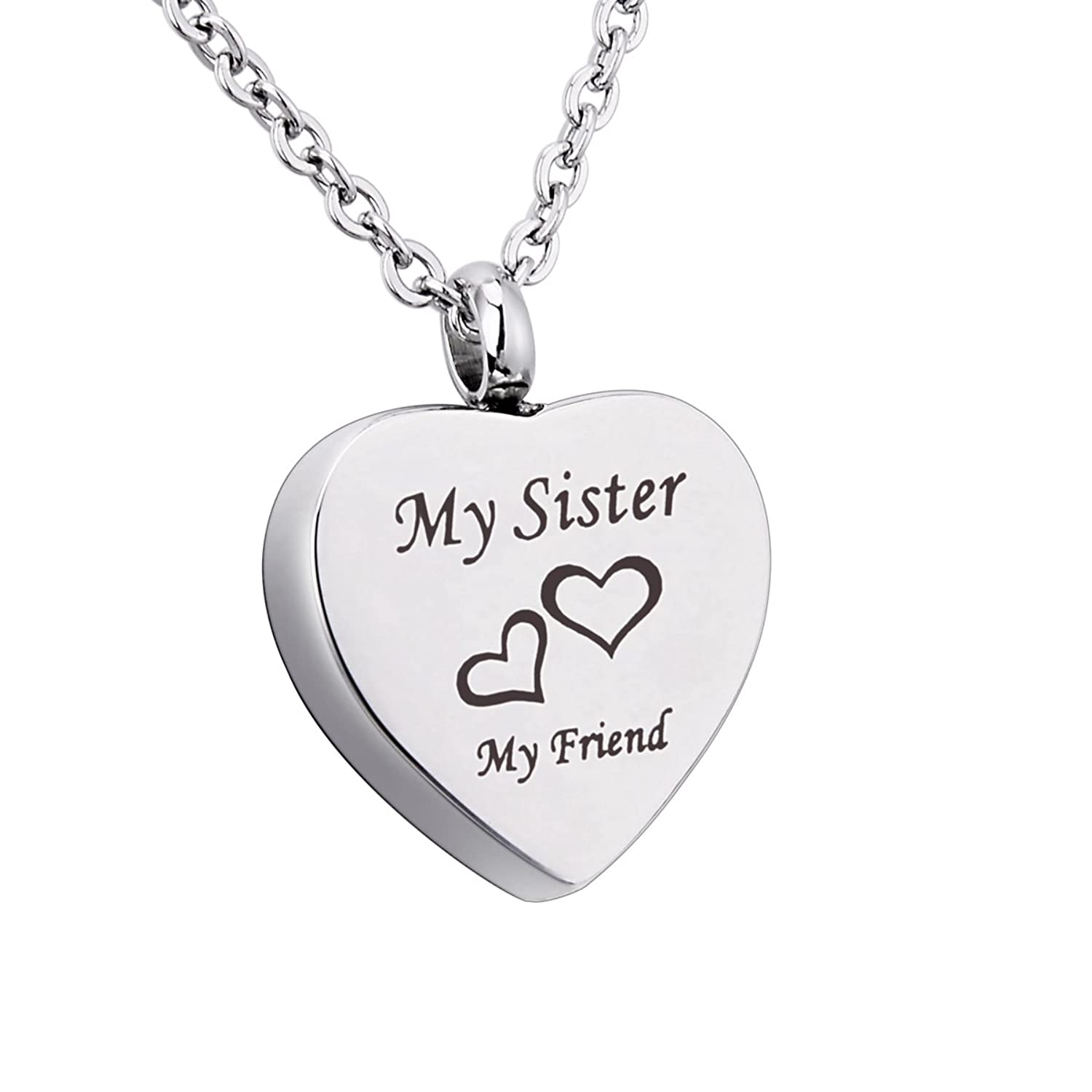 My Grandma/Grandpa Father/Mother Brother/Sister Daughter/Son Husband My Friend Cremation Urn Necklace for Ash Jewelry Memorial Keepsake Pendant