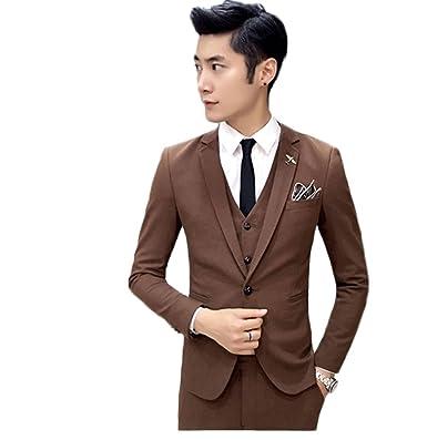 bb87919ac867 Royal Blue Men's 3 Piece Suits Wedding Suits Slim Fit Groom Tuxedos Prom  Blazer Custom Jacket