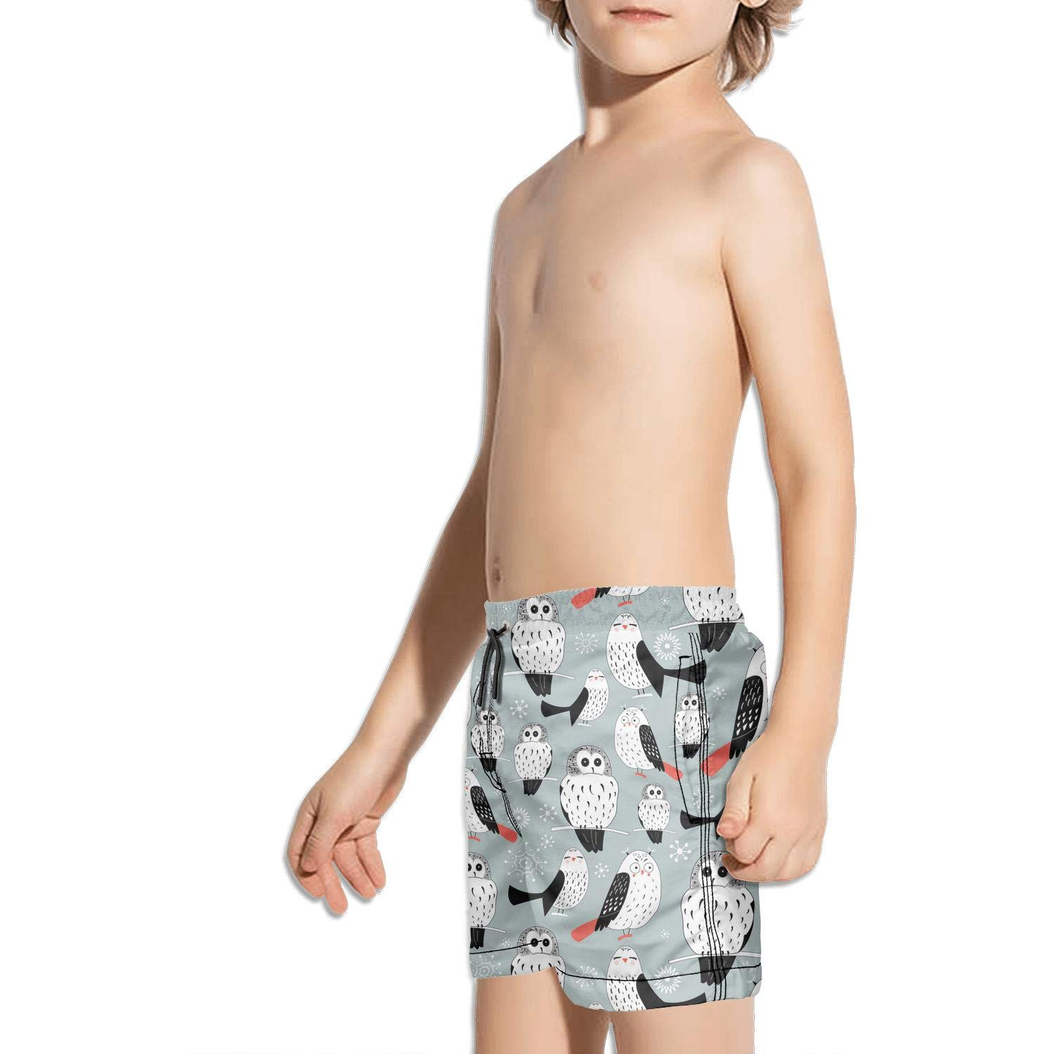 Boys Boardshorts Vintage Barred owl Love Quick Dry Bathing Suits Beach Board Shorts