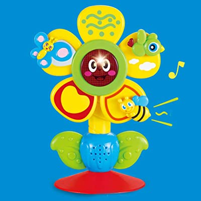 AGAWA Brain Game,Baby Sunflower Music Suction Cup Toy Highchair Toy for Early Learning Toy Birthday Kids Gift: Home & Kitchen