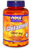 Now Foods, L-Glutamine, Double Strength- 120 Capsules
