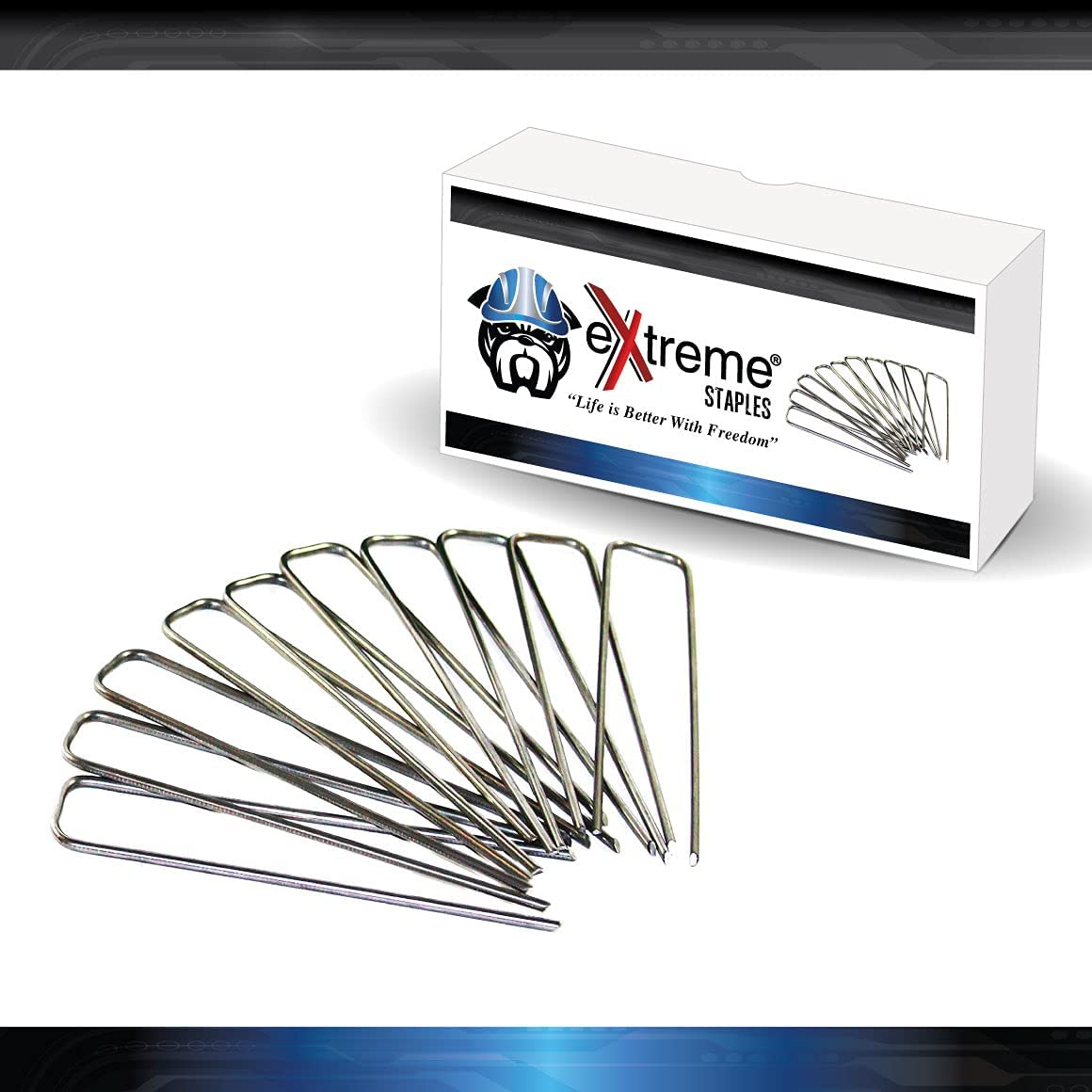 Extreme Dog Fence Pet Fence Staples for Electric Dog Fences and Sod or Garden - Multiple Quantities Available