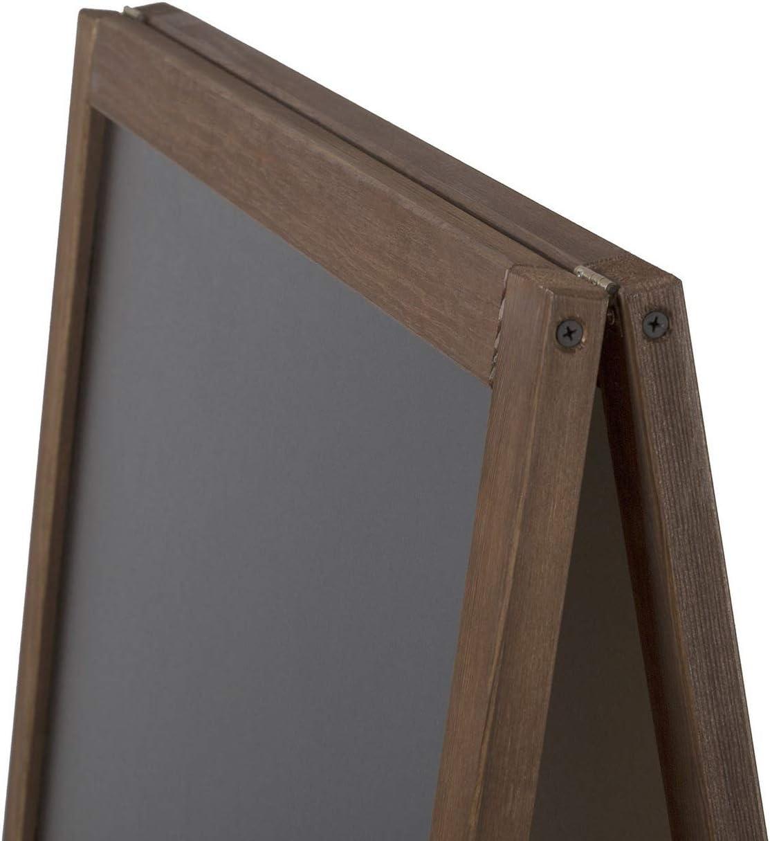 beidseitig aus Holz Tafel Werbetafel Holztafel Werbeaufsteller Kundenstopper//Aufsteller Kreidetafel 141 x 61 + 16 x 53 cm