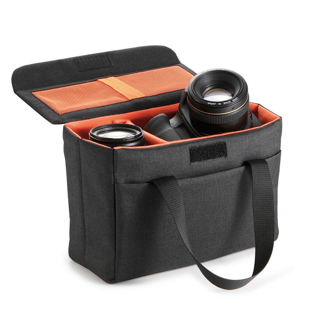 Koolertron –  Borsa antiurto impermeabile inserto Custodia obiettivo Design pieghevole con scomparto per DSLR SLR fotocamera reflex obiettivo Canon Nikon Sony Olympus