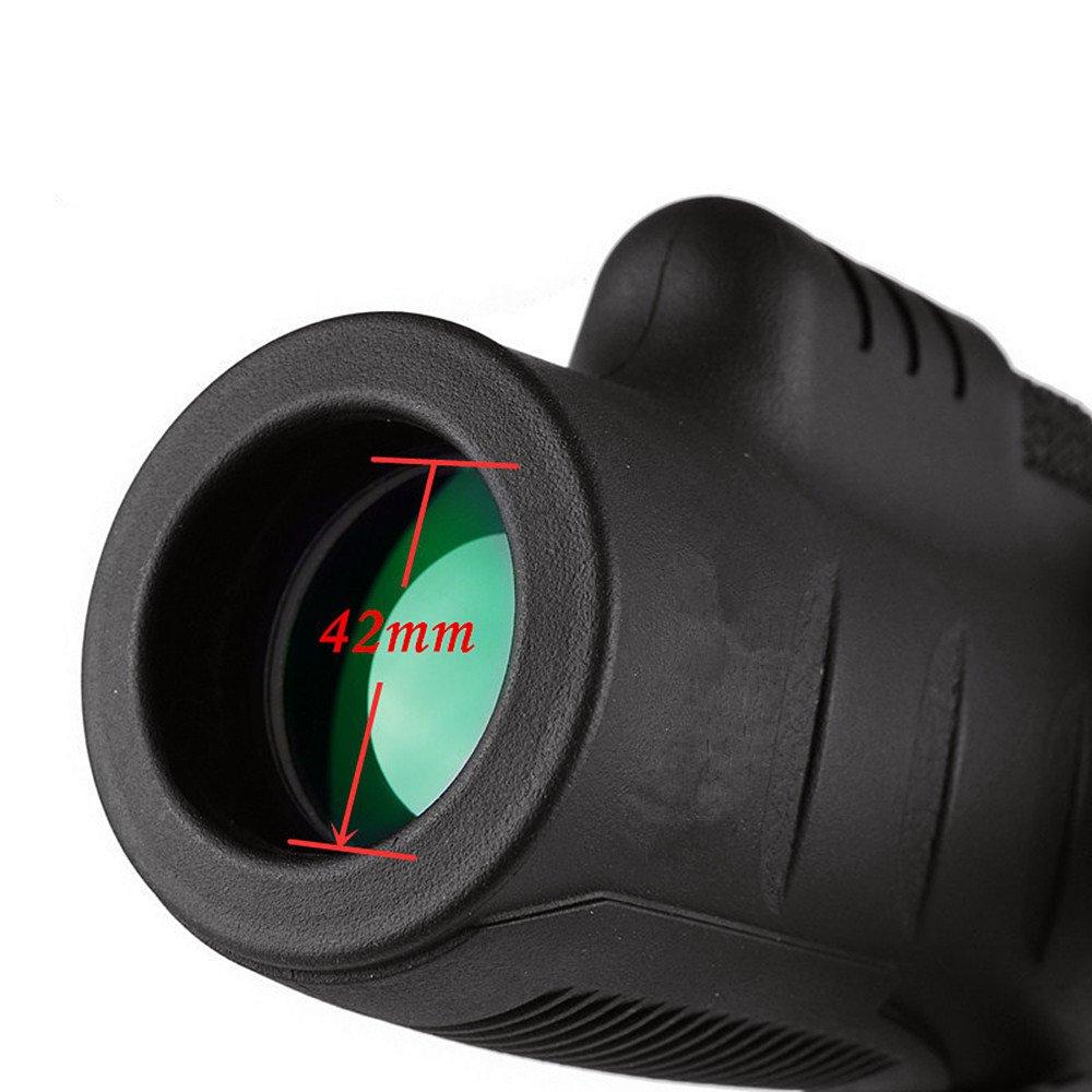 Telescopio monocular 10x35 definición de Alta definición 10x35 no infrarrojo de poca luz de visión Nocturna telescopio portátil para Uso en Exteriores para Escalada Senderismo Caza Viajar fba514