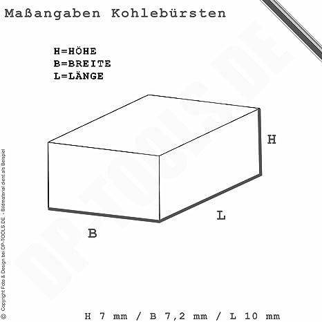 cb-430 Balais Charbon Pour Makita Batterie-percussion 6317 D 7x7 2 mm