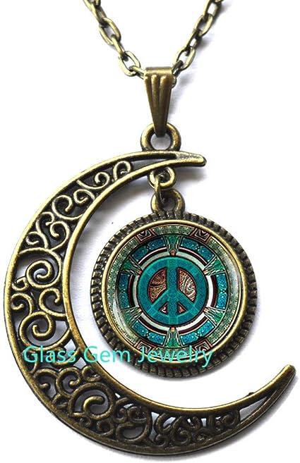gipsy moon  necklace  moon necklace  boho necklace hippy