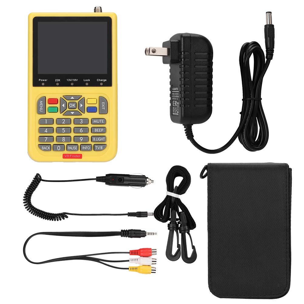 Satellite Signal Finder, 110-240V 3.5 inch LCD HD DVB-S MPEG-2 MPEG-4 Satellite Finder Digital Satellite Signal Finder Meter.(US 110-240V) by Ciglow
