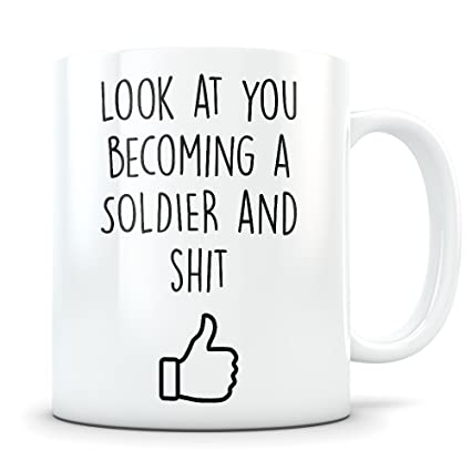 Army Graduation Gifts - Military Science Graduates - US Army Soldier Coffee Mug for Men and