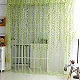 Home Textile Tree Willow Curtains Blinds Voile Tulle Room Curtain Sheer Panel Drapes for bedroom living room kitchen