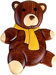 Teddy Bear Wooden Magnet